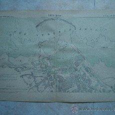 Arte: LIVOURNE-LIBORNO-TOSCANA-ITALIA-MARCHADIER-MAPA 33X49 CM-ATLAS PORTS ETRANGERS-1884-1ª EDICION.. Lote 37018306