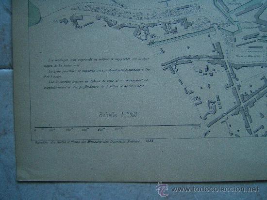 Arte: LIVOURNE-LIBORNO-TOSCANA-ITALIA-MARCHADIER-MAPA 33X49 CM-ATLAS PORTS ETRANGERS-1884-1ª EDICION. - Foto 2 - 37018306