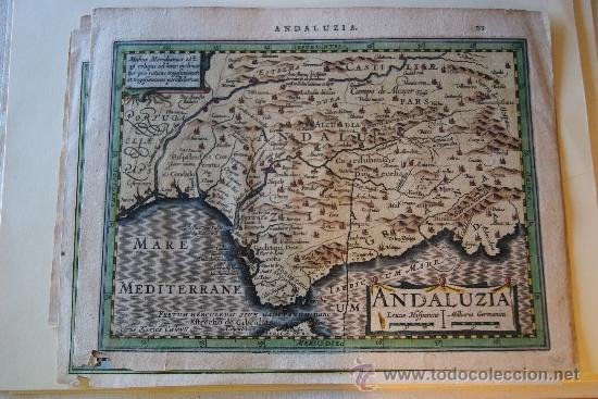 MAPA ANDALUCIA 1620 PETRUS KAERIUS CAELAVIT (Arte - Cartografía Antigua (hasta S. XIX))