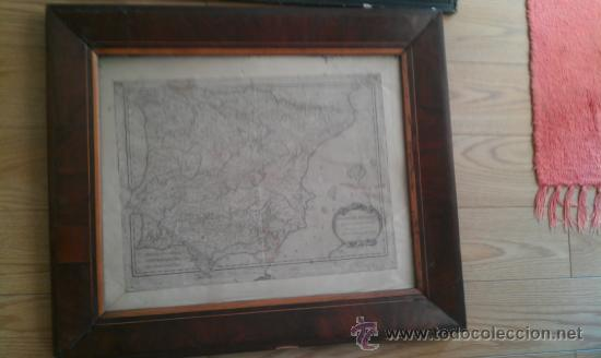 1783.HISPANIA ANTIQUAE. TABULA GEOGRAPHICA. MARCO ANTIGUO DE EPOCA (Arte - Cartografía Antigua (hasta S. XIX))