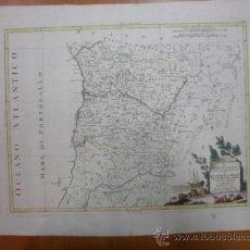 Arte: GRAN MAPA DEL CENTRO DE PORTUGAL , 1776, ANTONIO ZATTA. Lote 37787524