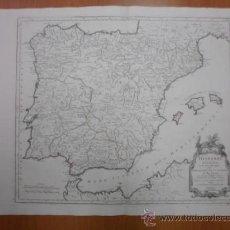 Arte: GRAN MAPA DE ESPAÑA Y PORTUGAL EN ÉPOCA ROMANA , 1784, FRANCESCO SANTINI. Lote 37811411