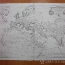 Arte: GRAN MAPA DEL MUNDO EN LA ANTIGÜEDAD, 1784, FRANCESCO SANTINI. Lote 37811459