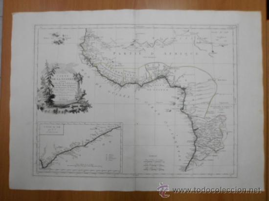 GRAN MAPA DE OESTE DE AFRICA, 1779, FRANCESCO SANTINI (Arte - Cartografía Antigua (hasta S. XIX))
