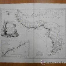 Arte: GRAN MAPA DE OESTE DE AFRICA, 1779, FRANCESCO SANTINI. Lote 37811527