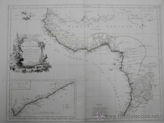 Arte: Gran mapa de Oeste de Africa, 1779, Francesco Santini - Foto 3 - 37811527