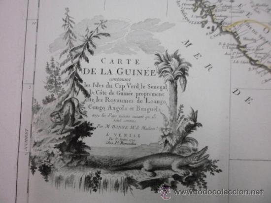 Arte: Gran mapa de Oeste de Africa, 1779, Francesco Santini - Foto 4 - 37811527