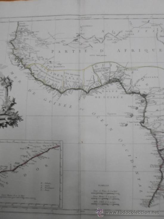 Arte: Gran mapa de Oeste de Africa, 1779, Francesco Santini - Foto 6 - 37811527