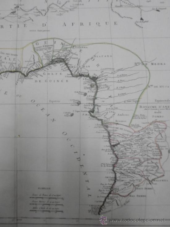 Arte: Gran mapa de Oeste de Africa, 1779, Francesco Santini - Foto 7 - 37811527