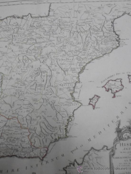 Arte: Gran mapa de España y Portugal en época romana , 1784, Francesco Santini - Foto 5 - 37811411