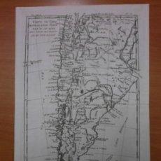 Arte: MAPA DE CHILE, ARGENTINA Y PERÚ, 1780, BONNE. Lote 38529733