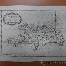 Arte: MAPA ISLA DE SANTO DOMINGO (REPÚBLICA DOMINICANA), 1747, J.N.BELLIN. Lote 38536852