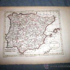Arte: ANTIGUO MAPA DE ESPAÑA Y PORTUGAL - SIGLO XVIII - GRABADO POR BLONDEAU.. Lote 39150007