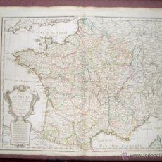 Arte: GRAN MAPA DE FRANCIA, 1788, DEZAUCHE. Lote 39504774