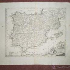 Arte: MAPA DE ESPAÑA Y PORTUGAL, 1740, TIRION ALBRIZZI. Lote 39504813