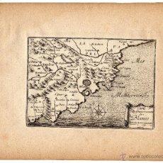 Arte: MAPA DEL GOBIERNO DE BLANES, GERONA (1680) \ SÉBASTIEN DE PONTAULT DE BEAULIEU \\ MUY RARO. Lote 39466958