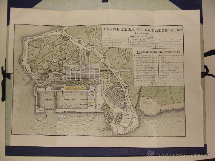 Arte: PRECIOSO PLANO DEL FERROL 1828. ACUARELADO. . 31X42 CM. LITOGRAFIA PRIMITIVA - Foto 2 - 40092207