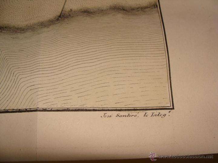 Arte: PRECIOSO PLANO DEL FERROL 1828. ACUARELADO. . 31X42 CM. LITOGRAFIA PRIMITIVA - Foto 7 - 40092207