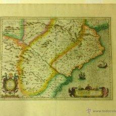 Arte: MAPA DE MERCATOR -ARAGONIA ET CATALONIA- DE 1613. Lote 40414441