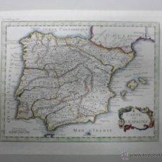 Arte: MAPA DE ESPAÑA Y PORTUGAL, 1747. Lote 40437327