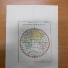 Arte: MAPA HEMISFERIO ORIENTAL, 1751, NICOLAS BION. Lote 40437783