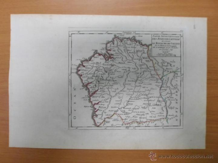 Arte: Mapa de Galicia (España), 1749, Robert Vaugondy - Foto 2 - 40493842