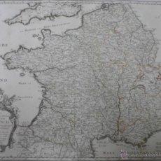 Arte: GRAN MAPA DE FRANCIA,1687, NICOLAS SANSON. Lote 40620309