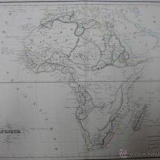 Art: GRAN MAPA DE AFRICA, 1836, LEJEUNE. Lote 40620336