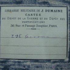 Arte: 1824. MAPA MILITAR DE GERONA. ENTELADO. DEPOSITO GENERAL DE LA GUERRA, FRANCES.. Lote 40712254