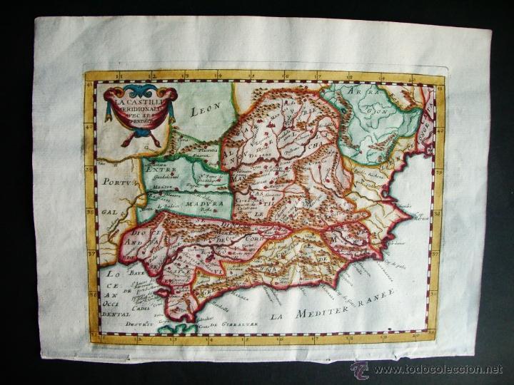 1720C- MAPA MURCIA. GANDIA. MOTRIL. MALAGA. MARBELLA. CARMONA. LORCA. CARTAGENA. SALOBREÑA. VALENCIA (Arte - Cartografía Antigua (hasta S. XIX))