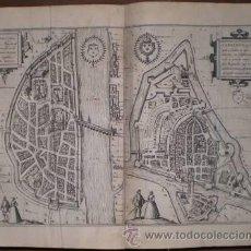 Arte: BRAUN: MATISCONA - CABILLONUM. GRABADO CON PLANOS DE MÂCON Y CHALON-SUR-SAÔNE. Lote 41435067