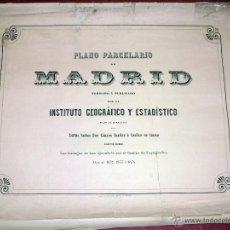 Arte: 1872 - 1874 PLANO PARCELARIO DE MADRID DIRIJIDO POR CARLOS IBAÑEZ. Lote 42588145