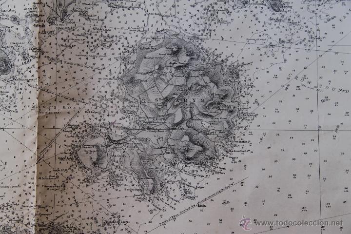 Arte: INTERESANTE MAPA ANTIGUO DE LAS ISLAS SCILLY NUMERADO CON MARCAS , SELLOS, CONNOTACIONES - Foto 9 - 43200947