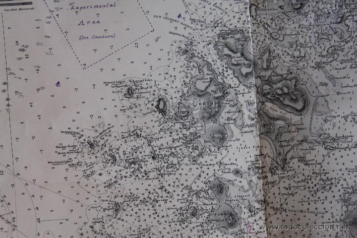 Arte: INTERESANTE MAPA ANTIGUO DE LAS ISLAS SCILLY NUMERADO CON MARCAS , SELLOS, CONNOTACIONES - Foto 10 - 43200947