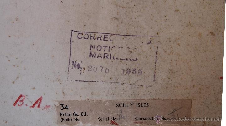Arte: INTERESANTE MAPA ANTIGUO DE LAS ISLAS SCILLY NUMERADO CON MARCAS , SELLOS, CONNOTACIONES - Foto 13 - 43200947