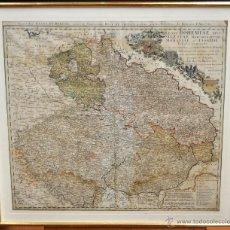 Arte: ANTIGUO MAPA-CARTA COLOREADA DEL REGNO DE BOHEMIA DEL AÑO 1748. BUEN ESTADO DE CONSERVACIÓN. Lote 43963255