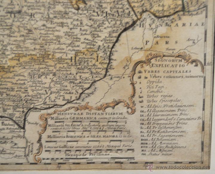 Arte: ANTIGUO MAPA-CARTA COLOREADA DEL REGNO DE BOHEMIA DEL AÑO 1748. BUEN ESTADO DE CONSERVACIÓN - Foto 5 - 43963255