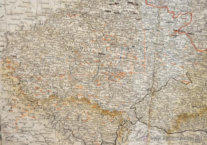 Arte: ANTIGUO MAPA-CARTA COLOREADA DEL REGNO DE BOHEMIA DEL AÑO 1748. BUEN ESTADO DE CONSERVACIÓN - Foto 7 - 43963255
