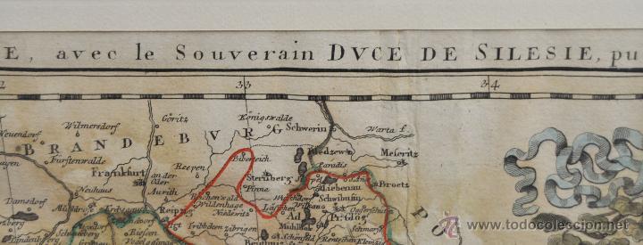 Arte: ANTIGUO MAPA-CARTA COLOREADA DEL REGNO DE BOHEMIA DEL AÑO 1748. BUEN ESTADO DE CONSERVACIÓN - Foto 10 - 43963255