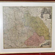 Arte: GEOTG MATTHÄUS SEUTTER (1678-1757) MAPA GEOGRÁFICO COLOREADO DEL REGNO DE BOHEMIA. Lote 43963452