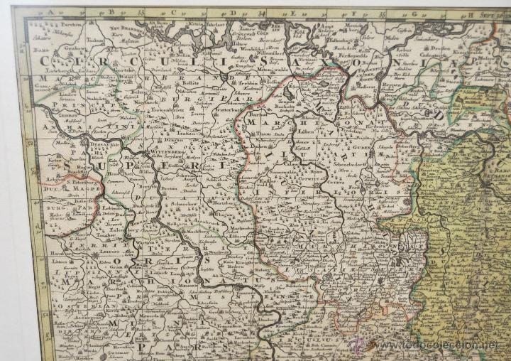 Arte: GEOTG MATTHÄUS SEUTTER (1678-1757) MAPA GEOGRÁFICO COLOREADO DEL REGNO DE BOHEMIA - Foto 4 - 43963452