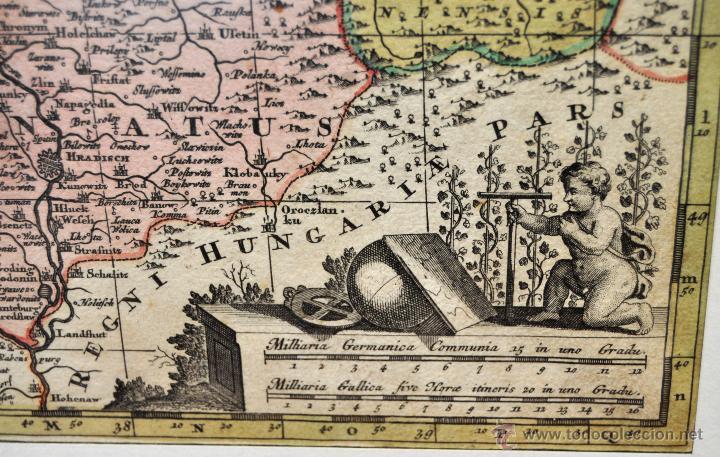 Arte: GEOTG MATTHÄUS SEUTTER (1678-1757) MAPA GEOGRÁFICO COLOREADO DEL REGNO DE BOHEMIA - Foto 7 - 43963452