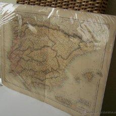 Arte: CIRCA 1854 SPAIN & PORTUGAL GRABADO EN EDIMBURGO POR S. HALL BURY 56 CM X 44 CM. Lote 44326997