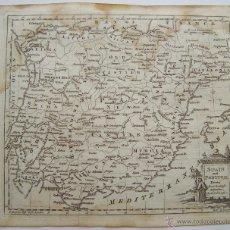 Arte: CIRCA 1769 SPAIN & PORTUGAL POR THOMAS KITCHIN MAPA DE BOLSILLO. Lote 44327136