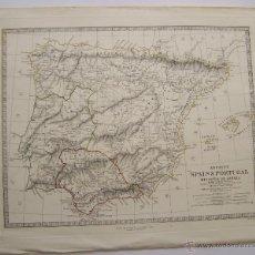 Arte: 1845 ANCIENT SPAIN & PORTUGAL HISPANIA OR IBERIA MAPA IMPRESO EN LONDRES 43 CM X 35 CM . Lote 63599922