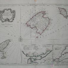 Arte: GRAN MAPA DE LAS ISLAS BALEARES, ESPAÑA.1780. BELLIN/SANTINI. Lote 44950684