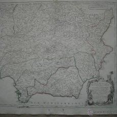 Arte: GRAN MAPA DEL SUDESTE DE ESPAÑA.1775 VAGOUNDY. Lote 44977175