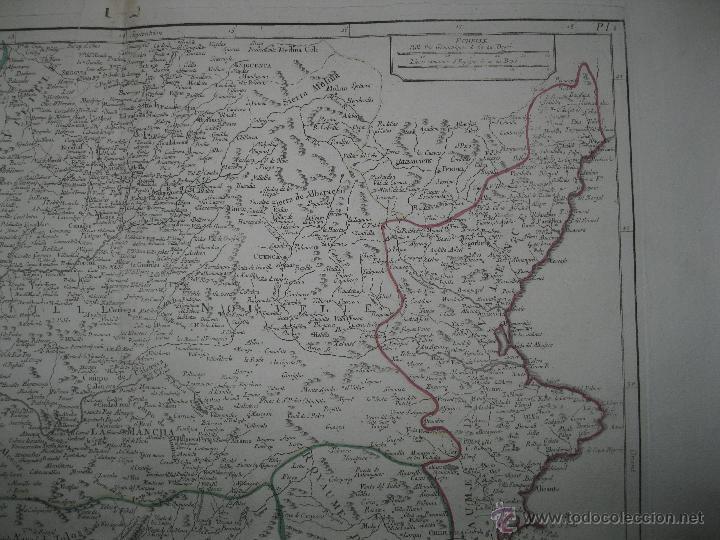 Arte: Gran mapa del sudeste de España.1775 Vaugondy/Santini - Foto 2 - 44977175