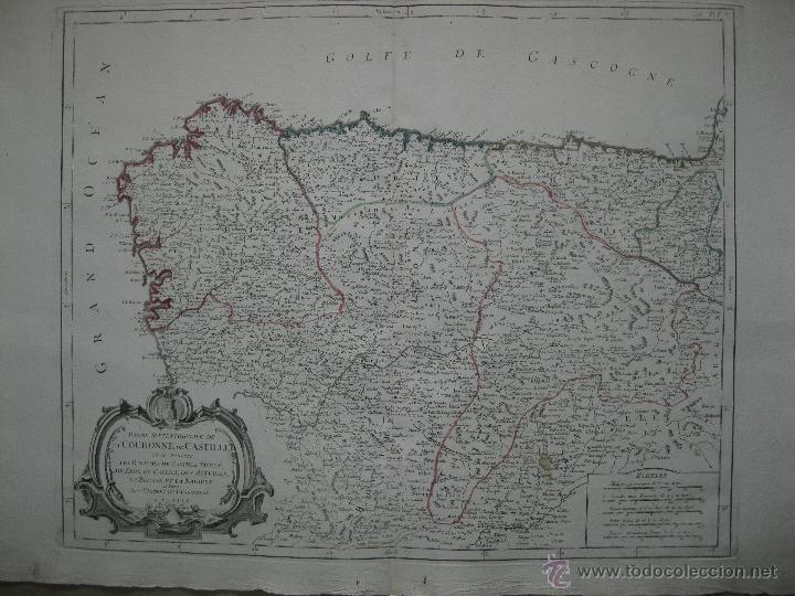 GRAN MAPA DEL NORTE DE ESPAÑA.1775.VAUGONDY (SANTINI/REMONDINI) (Arte - Cartografía Antigua (hasta S. XIX))