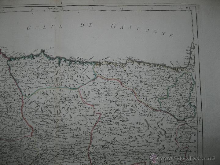 Arte: Gran mapa del norte de España.1775.Vaugondy (Santini/Remondini) - Foto 3 - 44977193